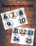 Camp Book Bin Number Labels