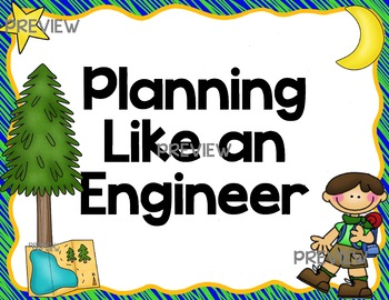 Camp Camping Theme STEM Posters for Engineering Design Process