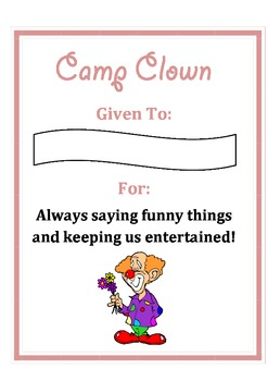camp certificates by emma calver teachers pay teachers