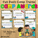 School Camp Awards Certificates Bush Theme