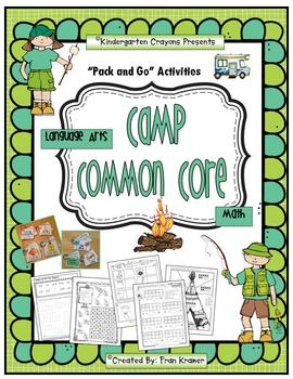 Camp Common Core: Literacy and Math Printables