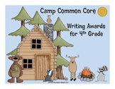 Common Core Writing Awards for 4th Grade Camping Theme