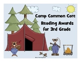 Common Core Reading Awards for 3rd Grade Camping Theme