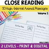 Close Reading Comprehension and Question Passages for Read