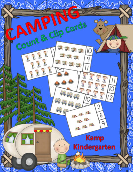 Camping Count and Clip Cards (Sets to 12)