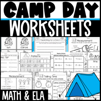 Camp Day Theme Activities and Worksheets