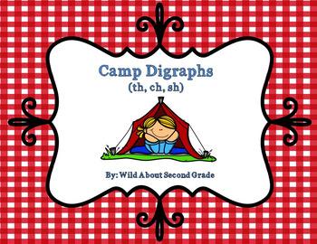 Camp Digraphs! (sh, th, ch), Games/Worksheet