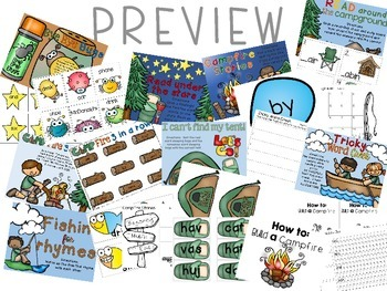 Camp First Grade-Reading Centers with a Camping Twist