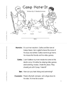 Camp Hate-It (Leveled Readers' Theater, Grade 2)
