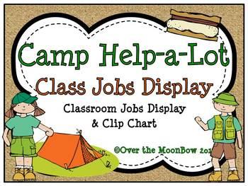 Camp Help-a-Lot Classroom Jobs Display & Clip Chart