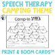 Speech and Language Camping Themed Therapy Pack for Mixed Groups