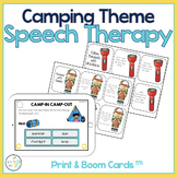Speech and Language Themed Therapy Unit for Mixed Groups:  CAMPING