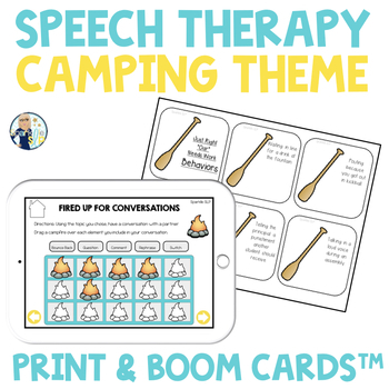 CAMPING Speech Therapy Themed Packet for Mixed Groups