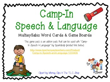 Camp In Speech and Language ADD-ONS