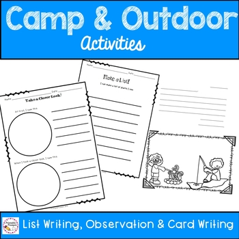 Camp Journal and Outdoor Activity Pages