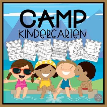 Camp Kindergarten NO PREP with Emergent Reader Bonus