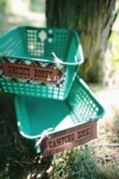 Classroom Decor Camp Learn-A-Lot Editable Book Basket Labels