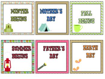 Camp Learn-A-Lot Calendar, Daily Schedule, and Desk Plates