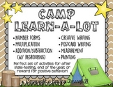 Camp Learn-A-Lot - End of the Year ELA and Math Activities