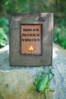 Classroom Decor Camp Learn-A-Lot Fire Inspirational Print
