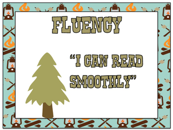 Camp Learn-A-Lot Fluency Strategy Signs
