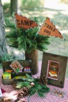 Classroom Decor Camp Learn-A-Lot Happy Camper Print