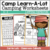 Camping Worksheets - Camp Learn A Lot (End of Year Packet)