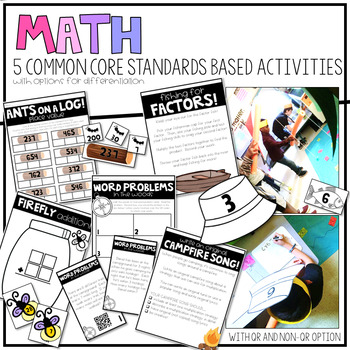 Camp Learn-a-Lot Classroom Transformation! Reading & Math Review Activities