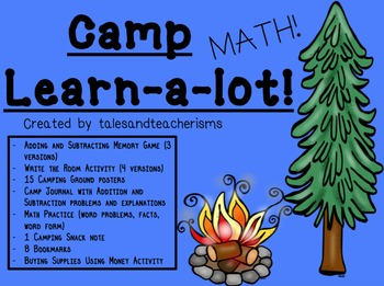 Camp Learn-a-Lot MATH version (Adding, Subtracting, Money, and Time)