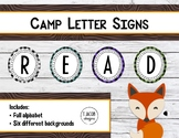 Camp Letter Signs