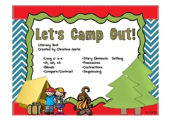 Camp - Long Vowels and Blends AND Other Literacy Activities