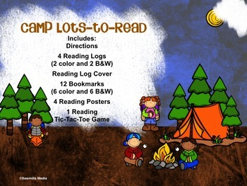Camp Lots-to-Read Reading Encouragers-(Reading Logs, Bookmarks, Posters)