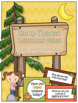 Camp Lunchbox Notes, Jokes, and Bottle Wraps