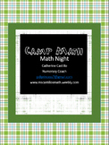 Camp Math Night Kit - Activities for a Camp Themed Math Night