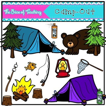 Camp-Out Clipart Set