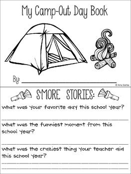 Camp-Out Day Fun Book