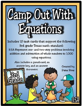 Camp Out With Equations (TEKS 3.5A)