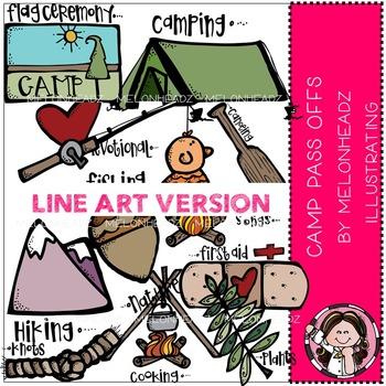 Melonheadz: Camp Pass Offs clip art - LINE ART