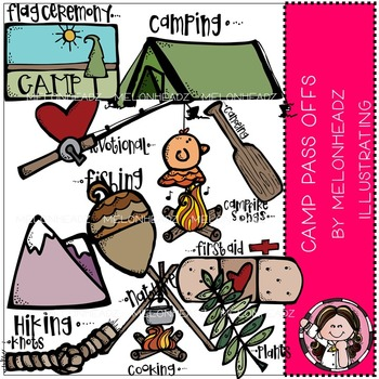 Camp Pass Offs clip art- by Melonheadz