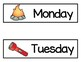 Camp Preschool Vocabulary Word Cards