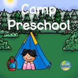 Camp Preschool Vocabulary Word Cards