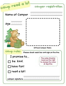Camp Read a Lot (Classroom Campout Fun!)