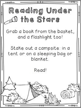 Family Literacy Night Materials: Camping Themed Literacy Night, editable!