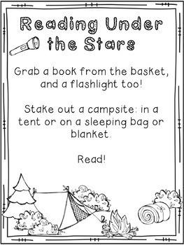 Family Literacy Night Materials: Camping Themed Literacy Night, editable!