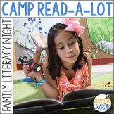 Editable Family Literacy Night Materials in a Camping Theme