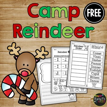 Camp Reindeer ABC Order FREEBIE