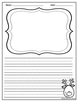 Christmas Activity with Reindeer ABC Order FREEBIE