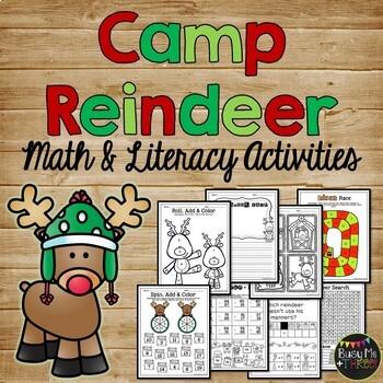 Reindeer Fun & Games - Math, Literacy, & Crafty