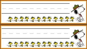 Camp Snoopy Classroom Theme Labels