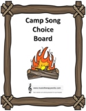 Camp Song Choice Board